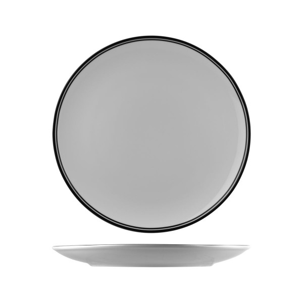 NANO CRU BLACK RIM ROUND COUPE PLATES