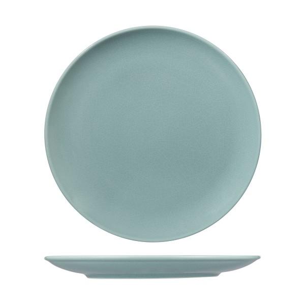 VINTAGE BLUE ROUND COUPE PLATES