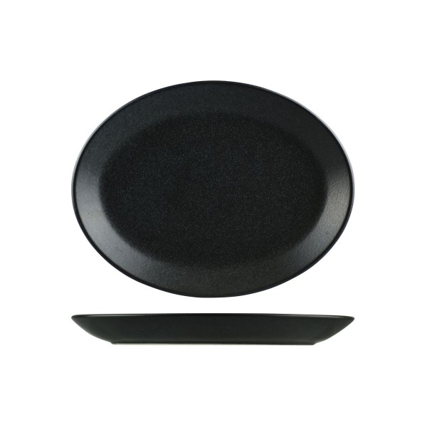 SEASONS GRAPHITE OVAL COUPE PLATE
