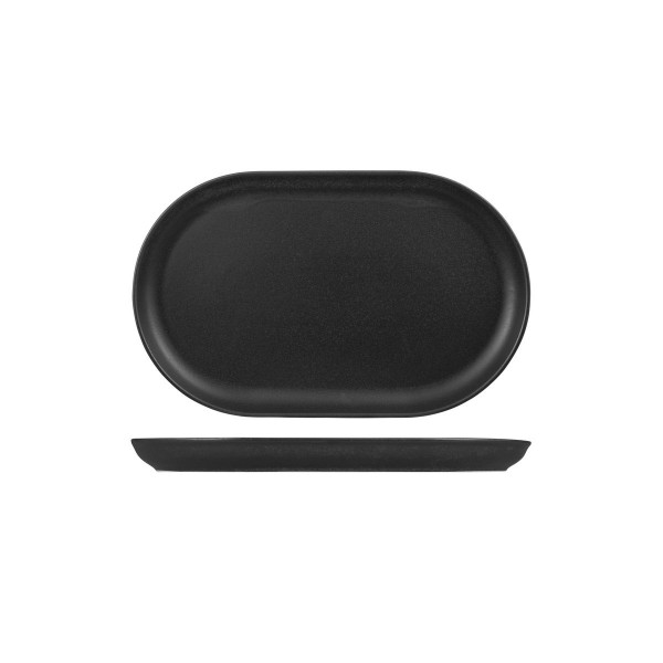 SEASONS GRAPHITE WIDE OVAL COUPE PLATE